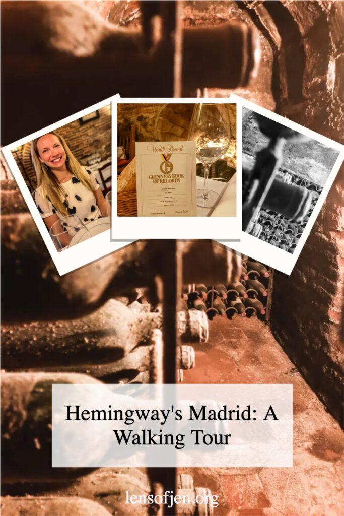Pin for Pinterest of Ernest Hemingway's Madrid