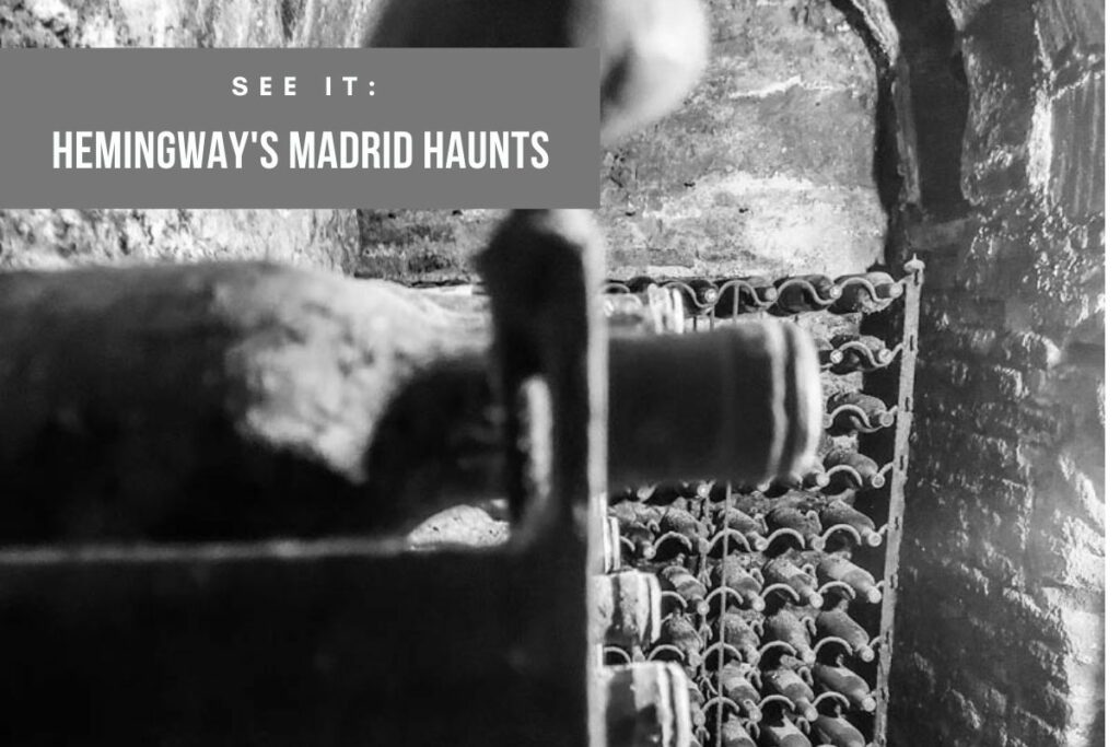 Walking in Hemingway's Footsteps in Madrid for a mix of travel and history and booze