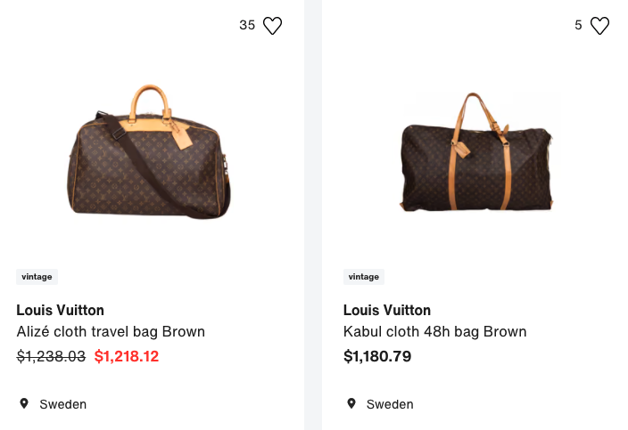 designer travel bags pre-loved for sustainability