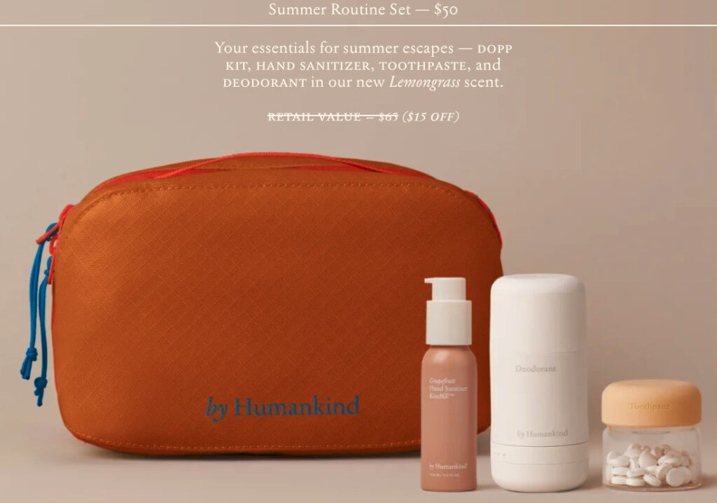 summer sustainable kit from Humankind