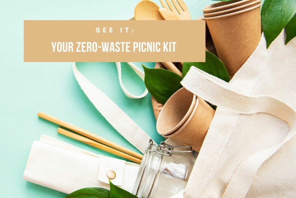 zero-waste picnic kit for sustainable eating