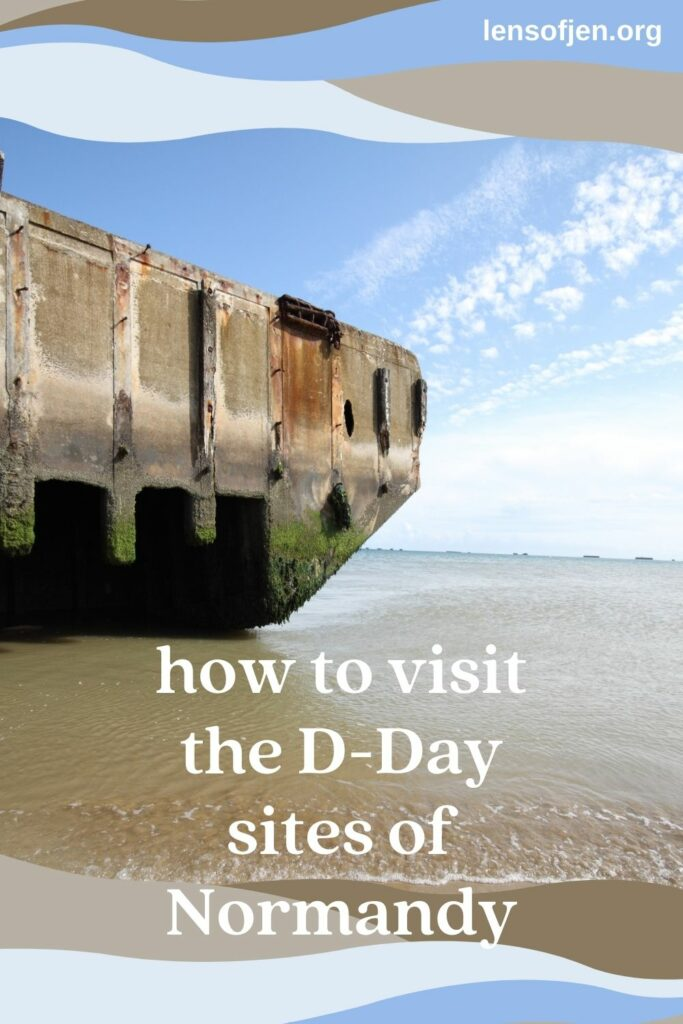 D-Day Tour of Normandy Pin for Pinterest