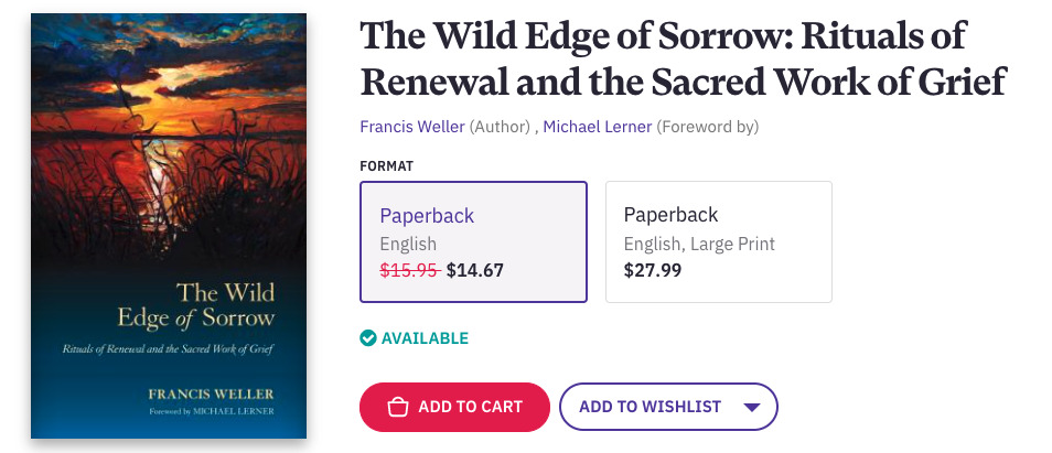 A life-changing book for the grieving: The Wild Edge of Sorrow