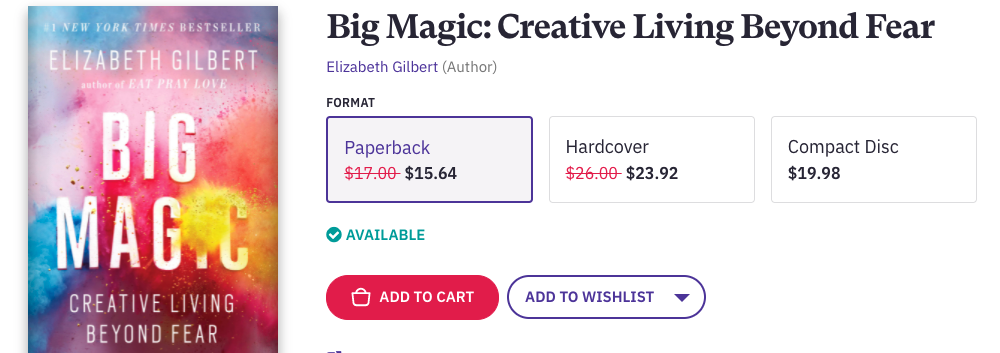 Big Magic is a book that will change your life