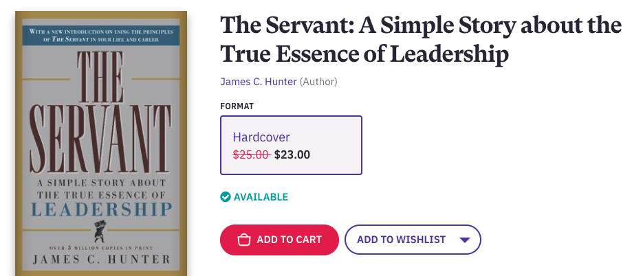 The Servant is a book that will change your life