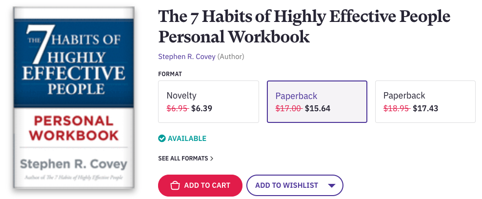 The 7 Habits of Highly Effective People is a life-changing book