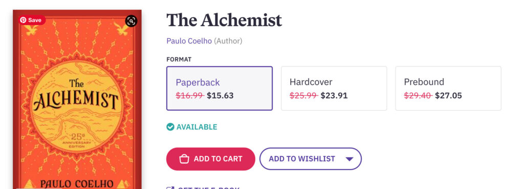 The Alchemist is a life-changing book that changes every time you read it