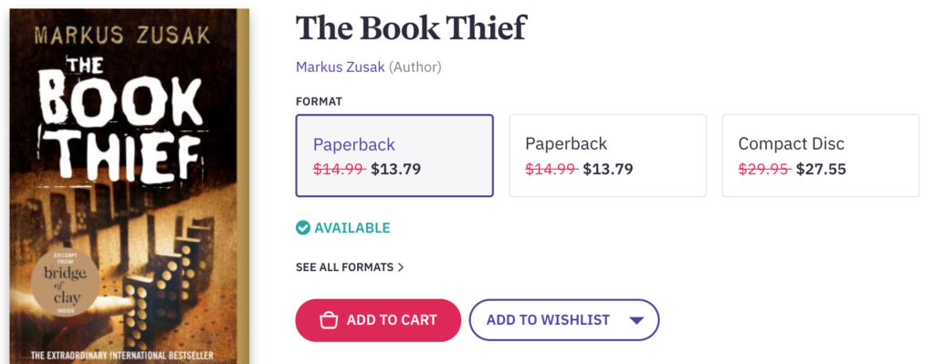 The Book Thief is a book read time and time again