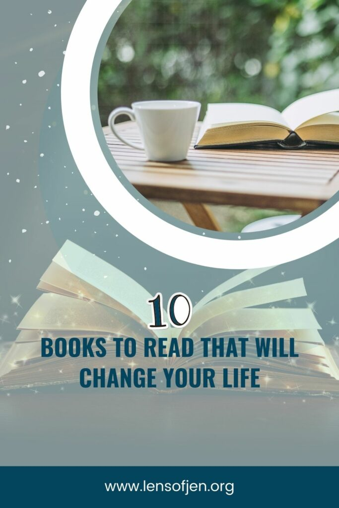 Pin for Pinterest of 10 books to read to change your life