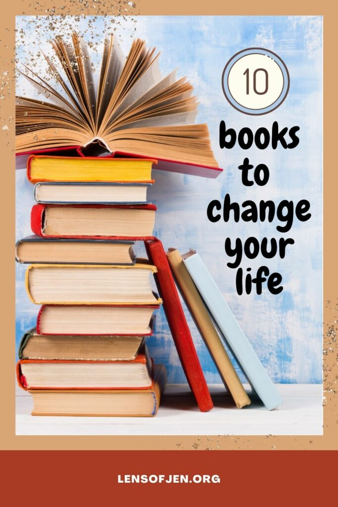 Pin for Pinterest of Life-Changing Books
