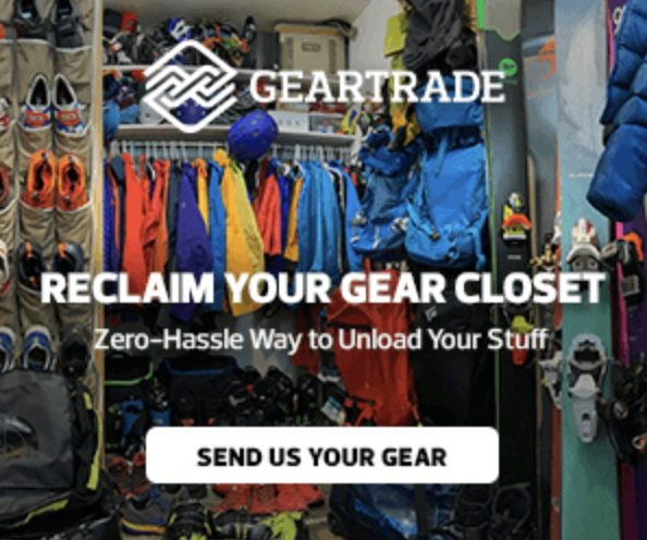 Geartrade Advert: Buy and sell gently used outdoor gear to keep clothes out of the landfills