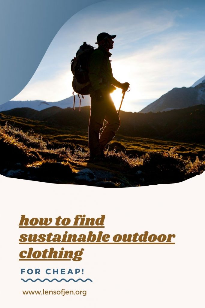 ethical outdoor clothing and gear pin