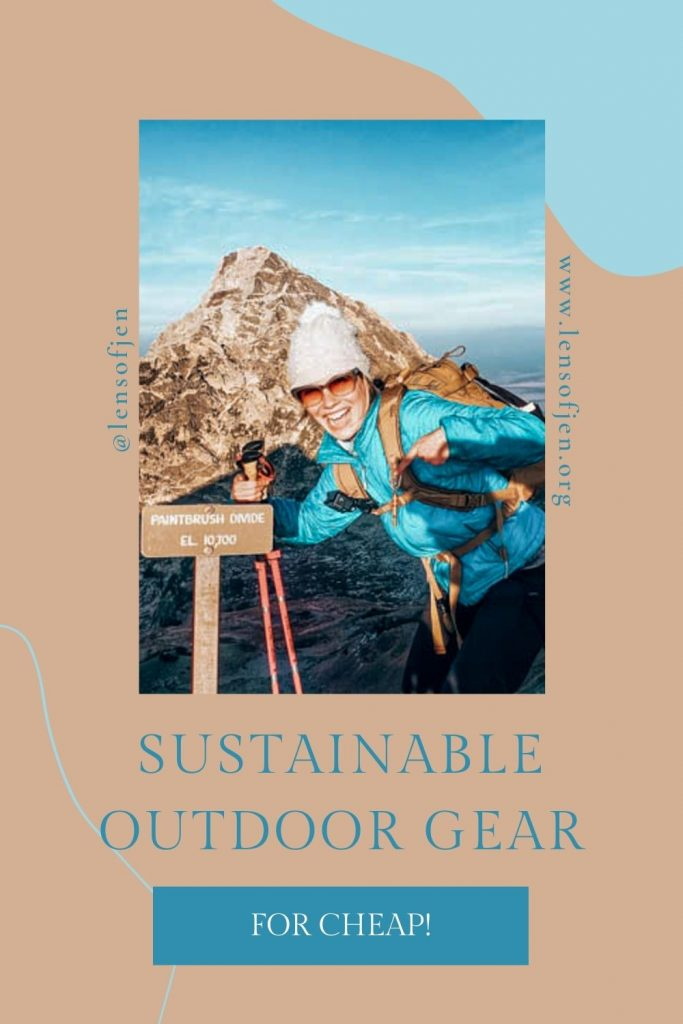 Ethical outdoor clothing Pin